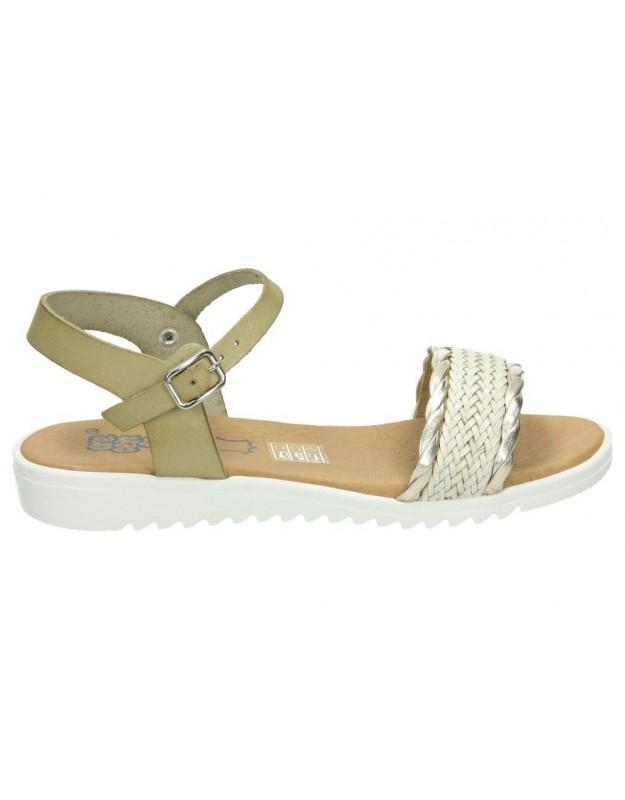 Sandalias color beige de casual crecendo 1320