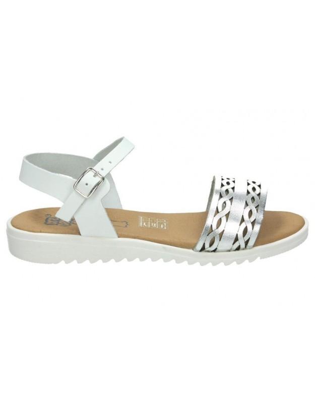 Sandalias color blanco de casual crecendo 1321