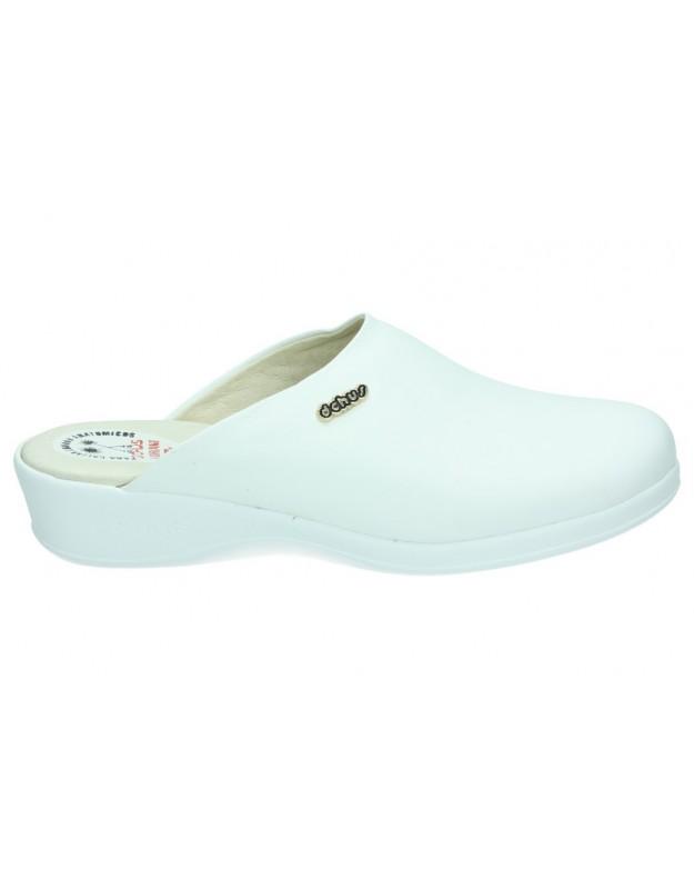 Zuecos color blanco dchus 4-6090