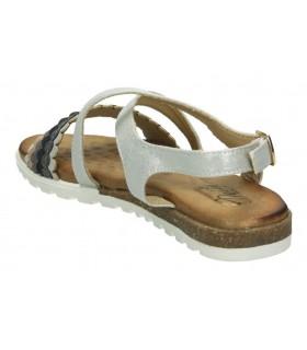 Zapatos casual de señora fluchos 0186 color plata