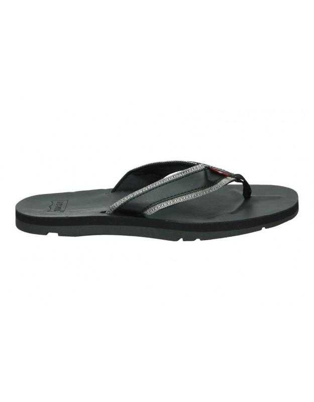Sandalias color negro de casual levi´s 225850