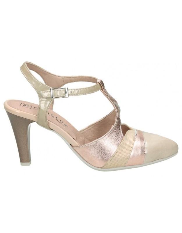 Sandalias casual de señora pitillos 5081 color rosa
