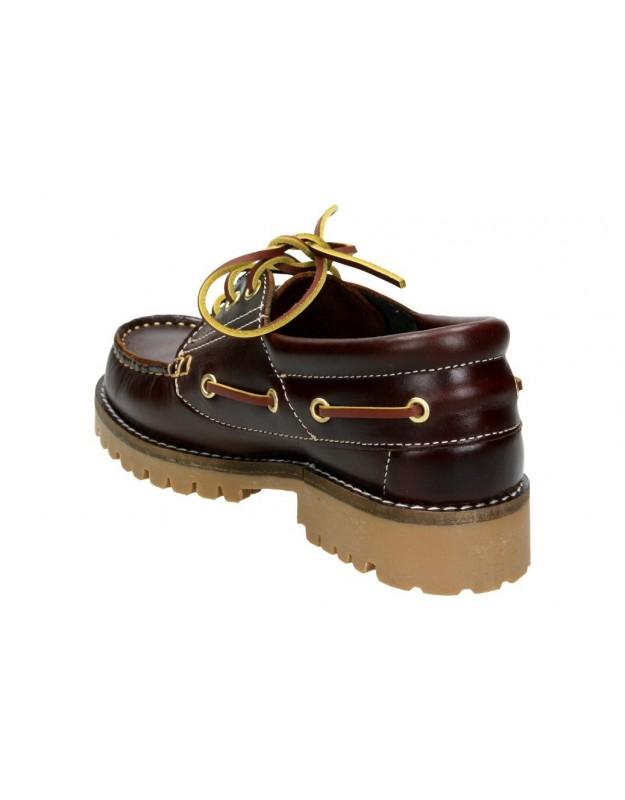 Zapatos para señora planos  20400 en marron