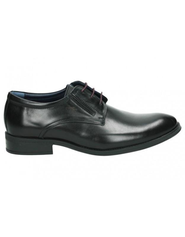 Zapatos para caballero planos fluchos 8410 en negro