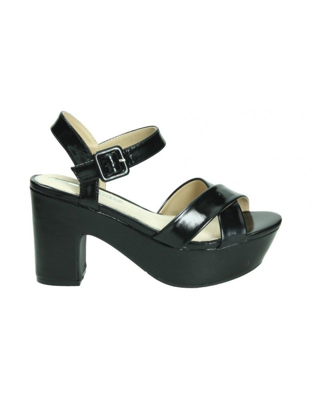 Sandalias casual de moda joven maria mare 67152 color negro