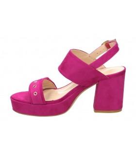 Sandalias para señora tacón d´angela djm15553-m en rosa
