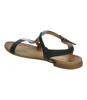 Zapatos para señora planos amarpies aqh15153 en azul