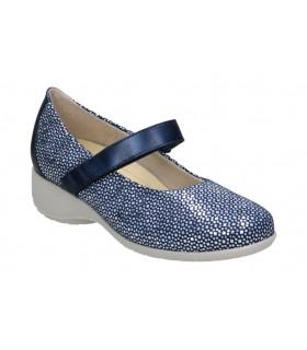 Sandalias para señora planos fluchos f0550 en azul