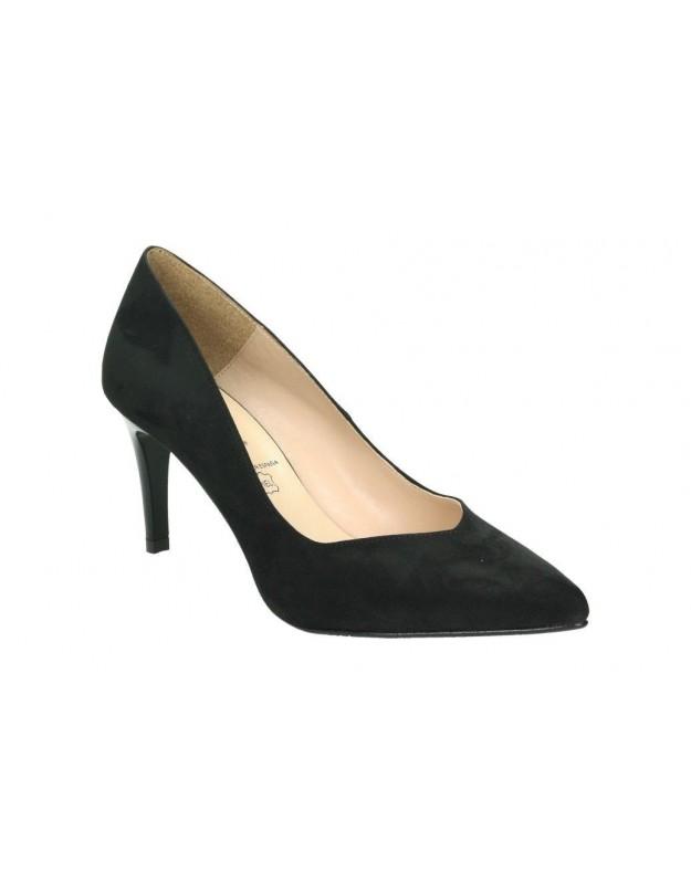 Zapatos para moda joven tacón daniela vega 1092 en negro