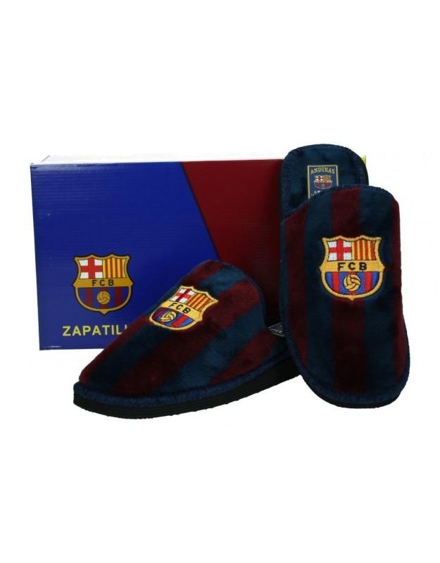 Zapatillas de casa andinas FC Barcelona caballero azul - BARCA