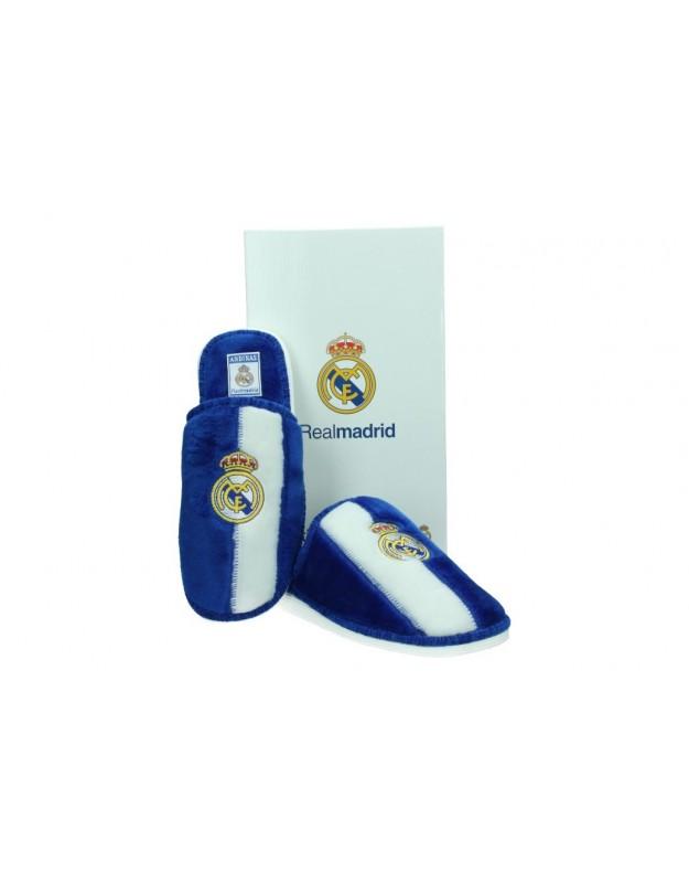 Zapatillas de casa de niño andinas Real Madrid color azul