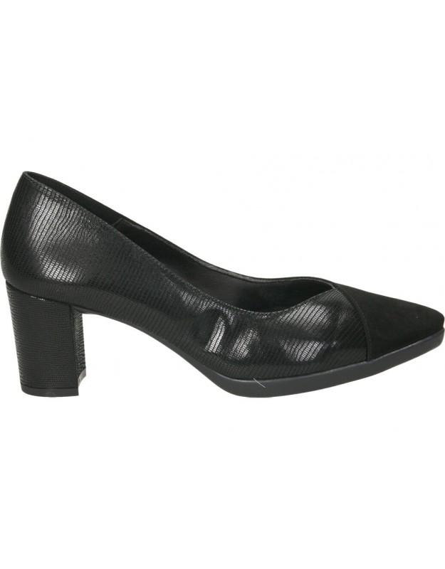Zapatos tacón color negro de casual daniela vega 1676