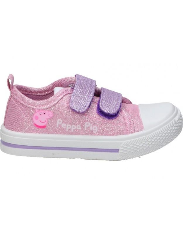 Zapatillas de peppa pig Lonas para niña cerda 2300004340 en rosa