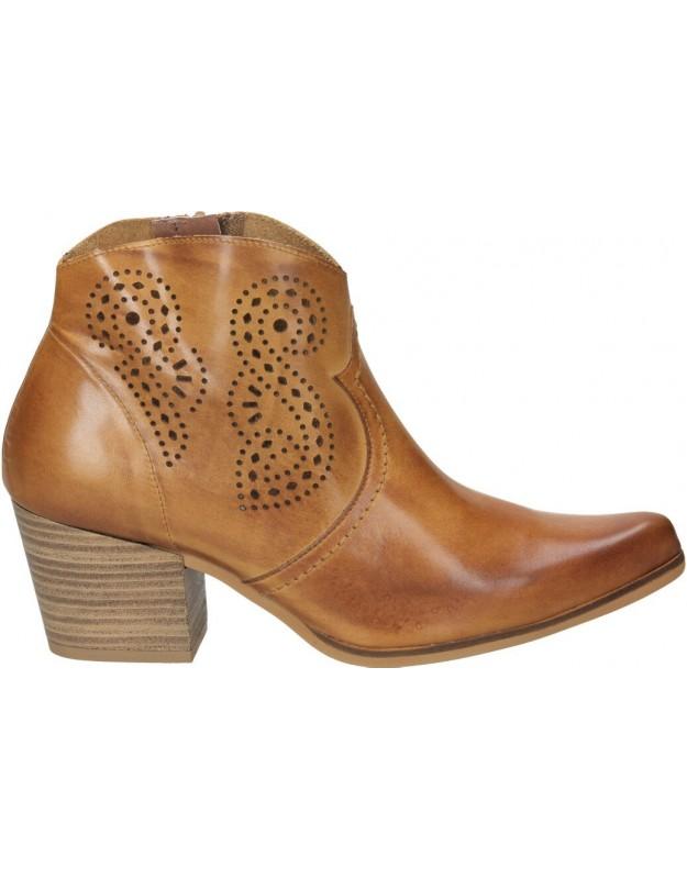 Botines para moda joven tacón melcris 3517 en marron