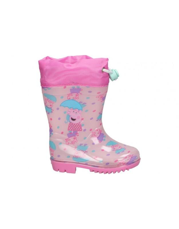 Botas de agua cerda 4449 pepa pig  rosa para niña