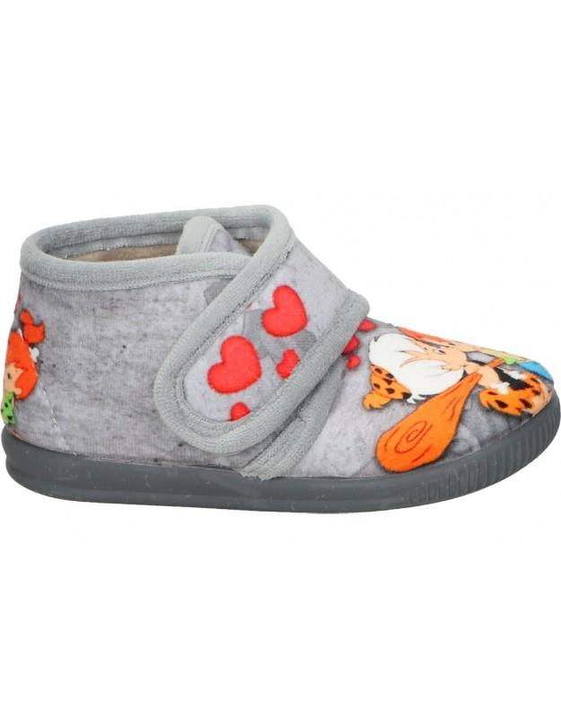 Zapatillas de casa Los picapiedra vulca-bicha 1060 gris para niña