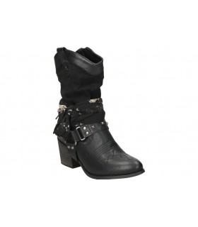 Botas casual de moda joven mtng 58964 color negro