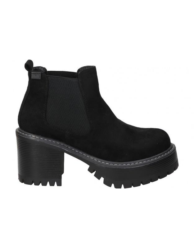 Botines para moda joven tacón emmshu heat en negro