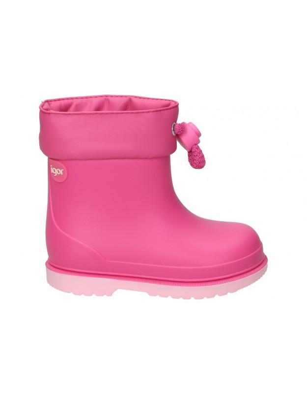 Botas de agua color rosa de casual igor bimbi bicolor