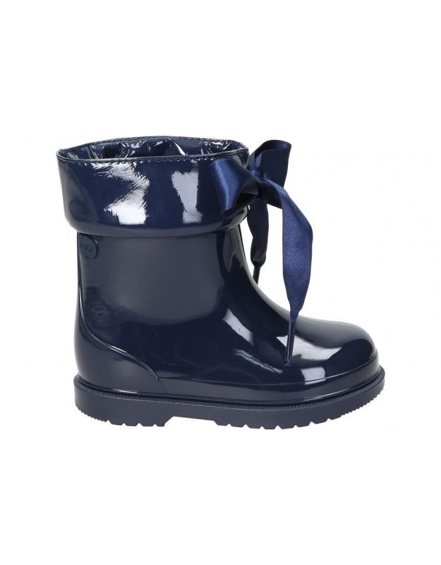 Botas de agua casual de niña igor bimbi lazo color azul