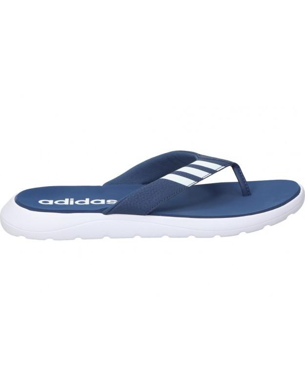 Chanclas Piscinas tipo flip flop color azul de casual adidas CONFORT eg2068.