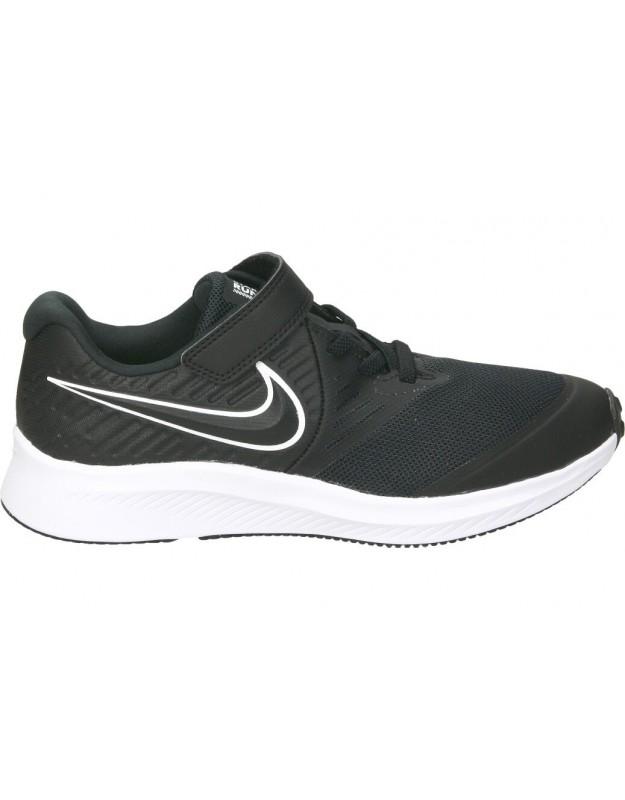Nike negro at1801-001 deportivas para niño