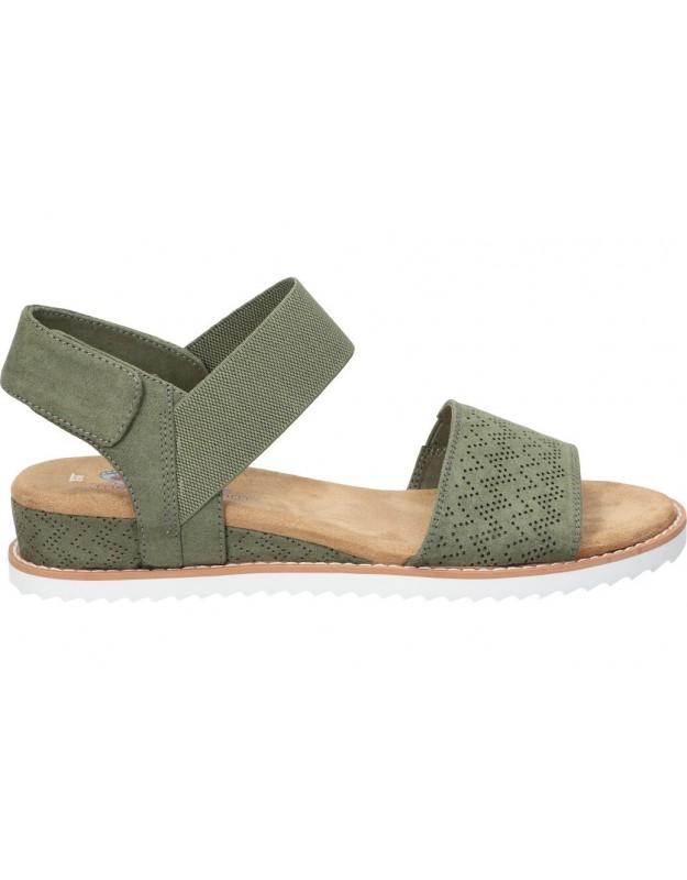 Sandalias color verde de casual skechers Desert Kiss 31440-olv