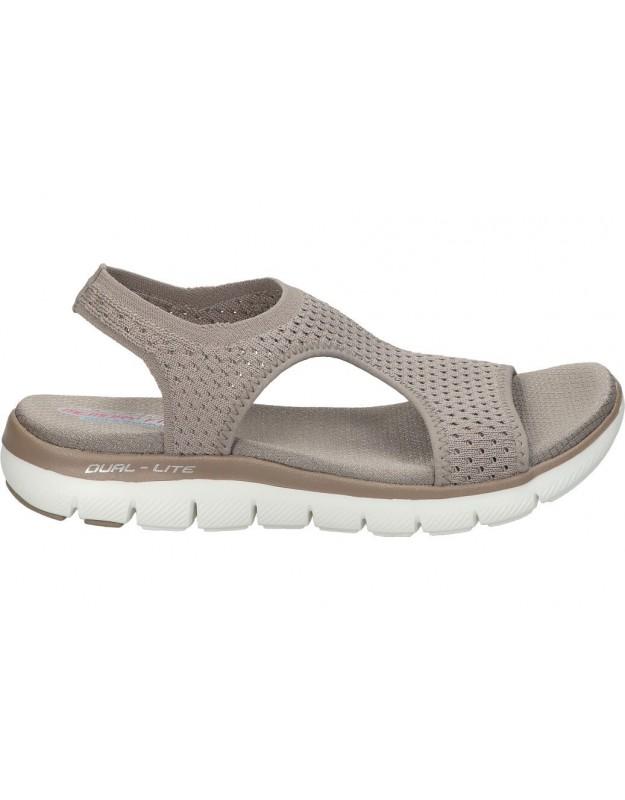Sandalias para señora skechers 31674-tpe taupe