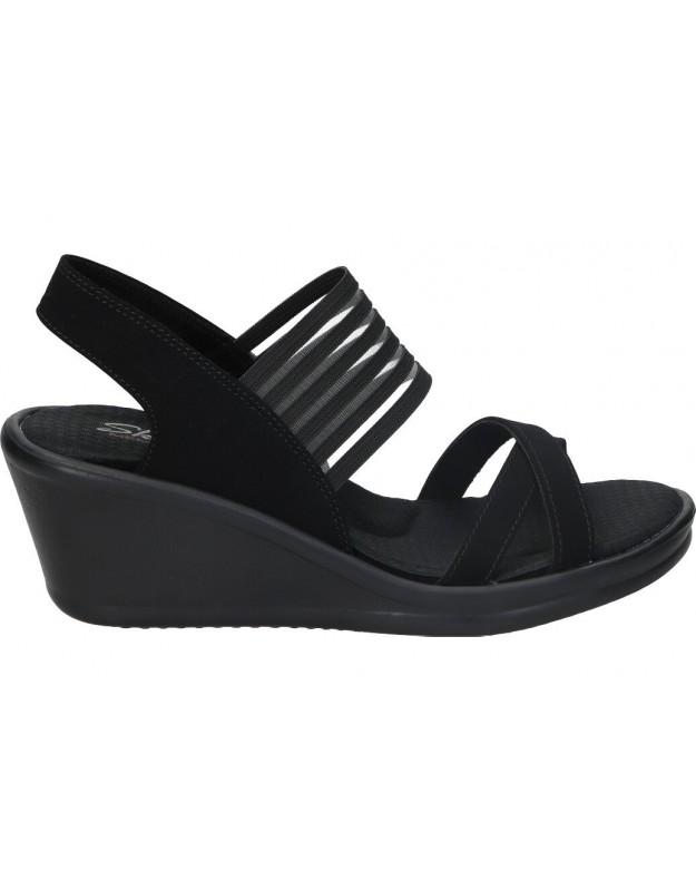 Sandalias skechers para señora corlor negro 31597-bbk