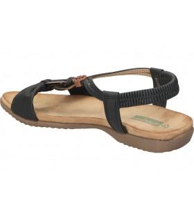 Sandalias para caballero planos skechers 204106-blk en negro
