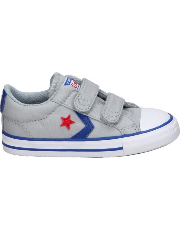 Deportivas Converse Star Player 2V OX 763529c gris para niño