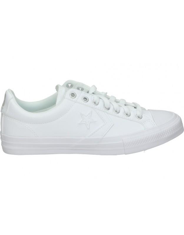 Converse Chuck Taylor All Star Low Top 651827c color blanco Lonas casual de señora