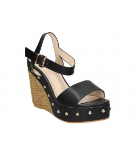 Sandalias not assigned de moda joven autenti 9654 color negro
