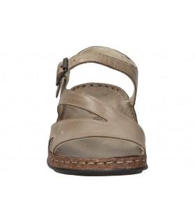Sandalias casual de moda joven emmshu nelie color beige