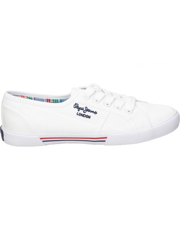 Lonas color blanco de casual pepe jeans pls31193