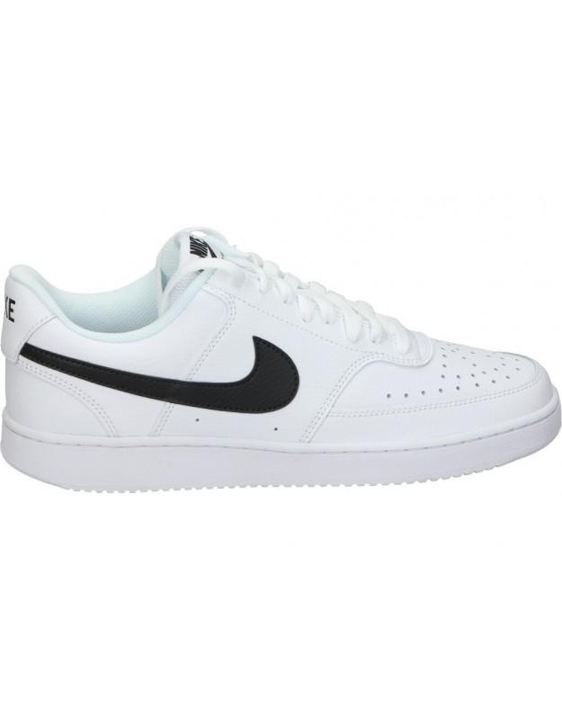 Deportivas color blanco de casual nike Court Vision low cd5463-101