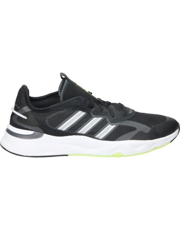 Deportivas color negro de casual adidas fw3371.
