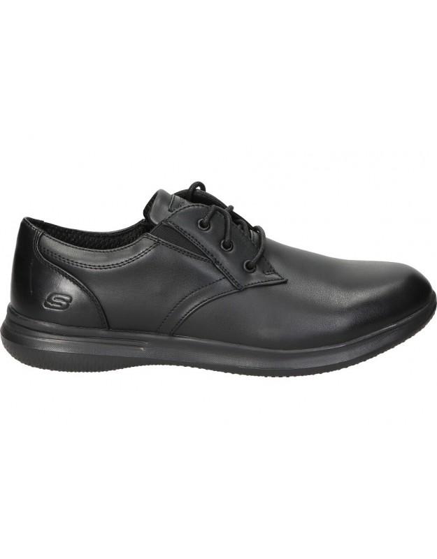 Zapatos para caballero skechers  DARLOW - PACE 204091-blk en negro