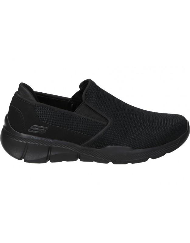 Zapatos skechers 52937-bbk negro para caballero