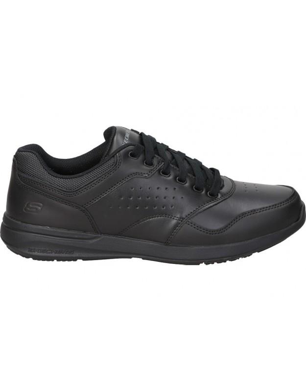 Skechers negro 65406-blk zapatos para caballero