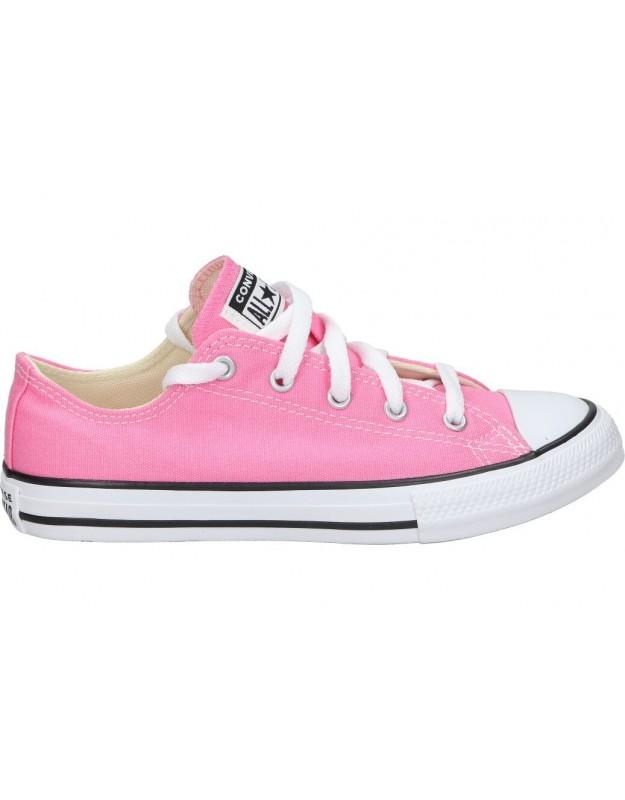 Lonas casual de niña converse 3j238c-650 color rosa