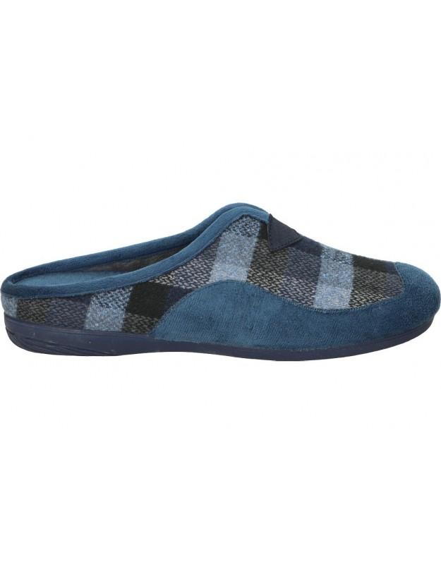 Zapatillas de casa de caballero biorelax cosdam 13674 color azul
