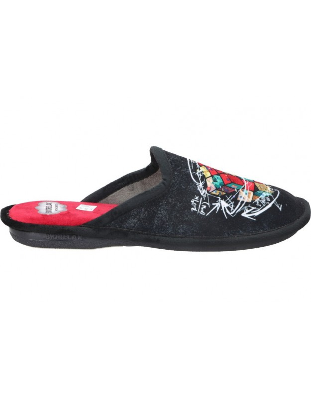 Zapatillas de casa para caballero cosdam Biorelax 1532 negro