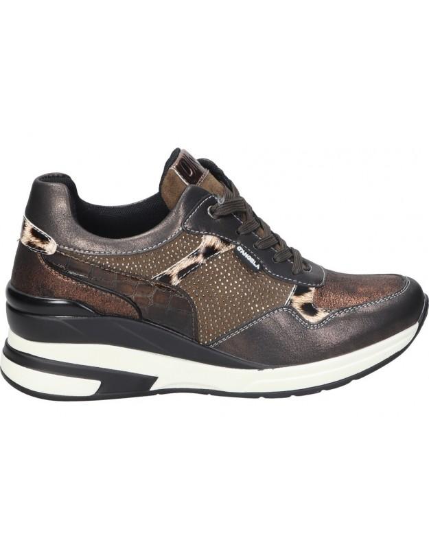 Zapatos casual de moda joven d´angela dbd20155 color taupe