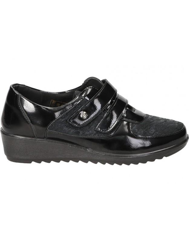 Zapatos casual de señora amarpies ajh18814 color negro
