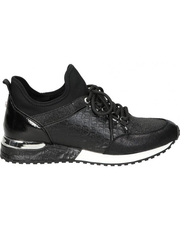 La strada negro 1900356 Zapatillas cómodas para mujer negro