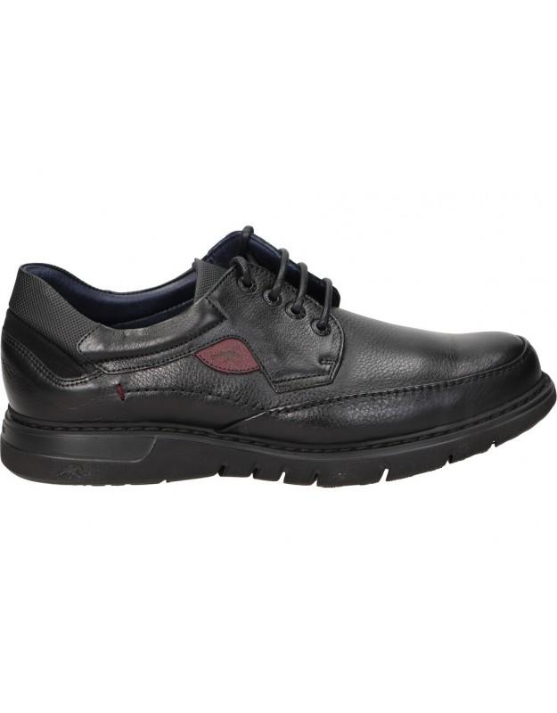 Zapatos para caballero planos fluchos f0248 en negro