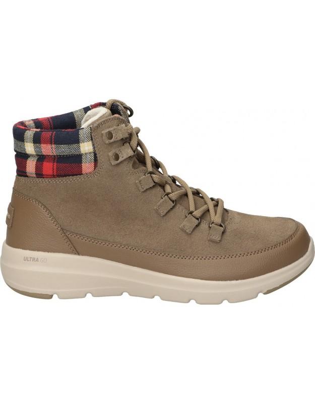 Skechers marron 144152-dktp botas para señora
