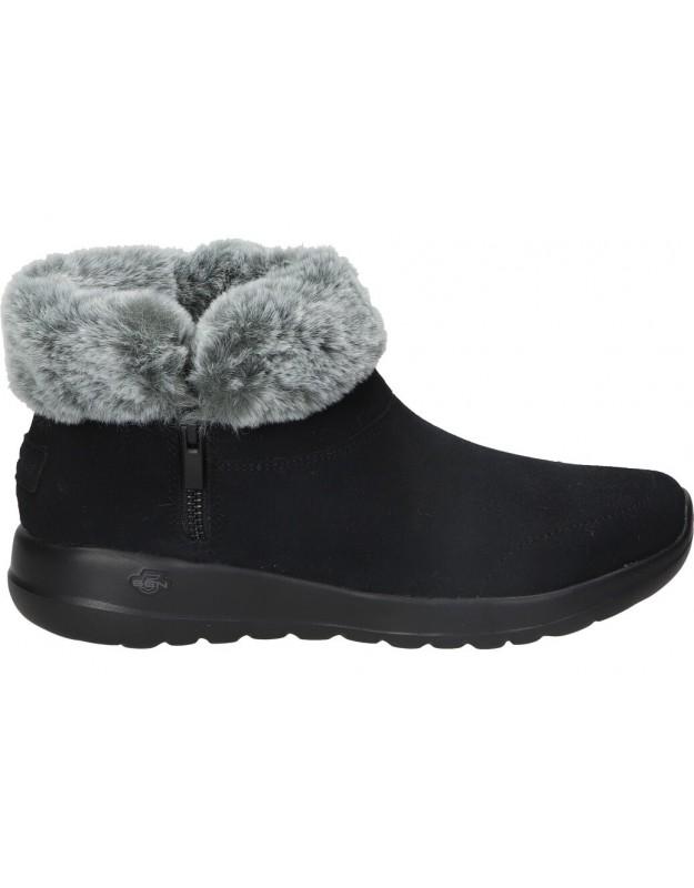 Botas casual de señora skechers 144003-bkgy color negro