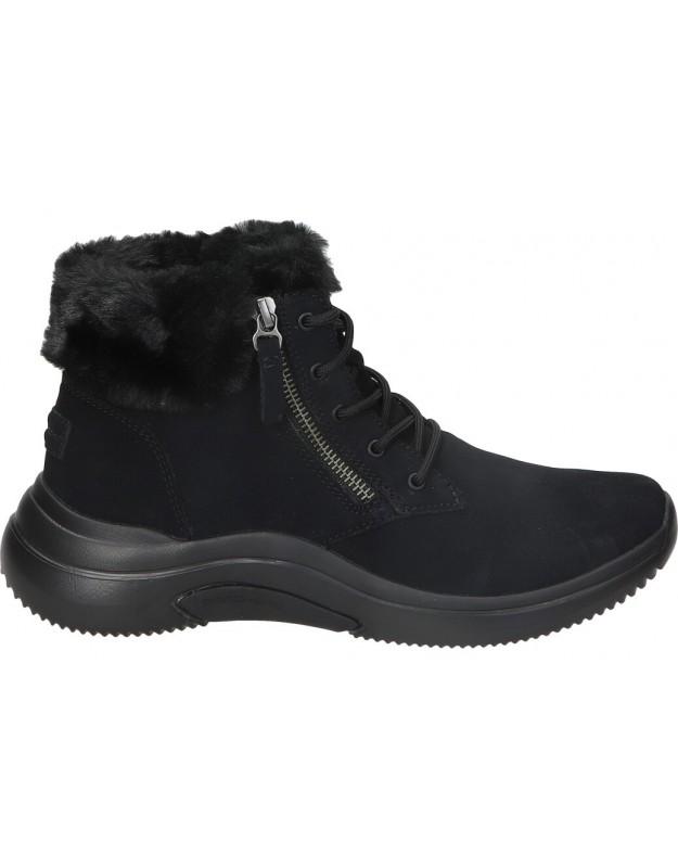 Botas casual de señora skechers 144267-bbk color negro